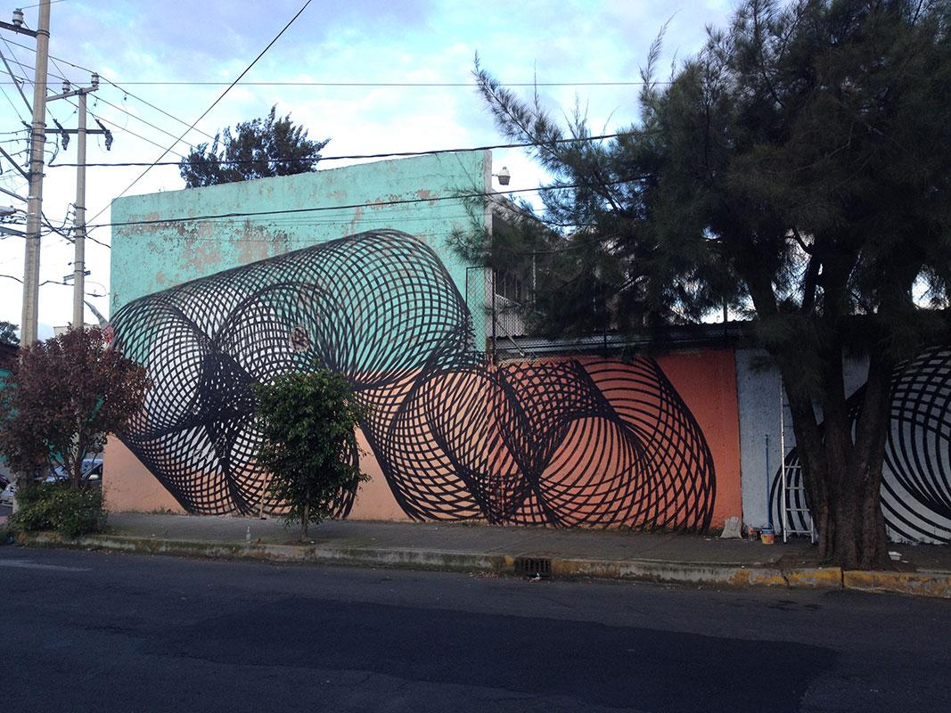 monet coloured wall